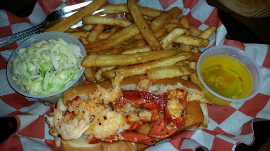 Saco, ME: Local beer, crab quesadilla, haddock tacos, lobster roll!