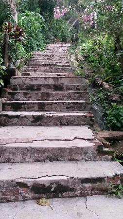 Culion, Philippines: Side streets are actually stairs - find this and you reach locations faster