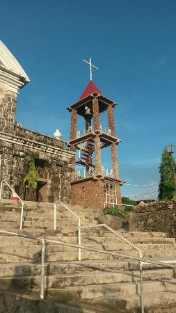 Culion, Filipiny: Bell tower - a recent addition to the church
