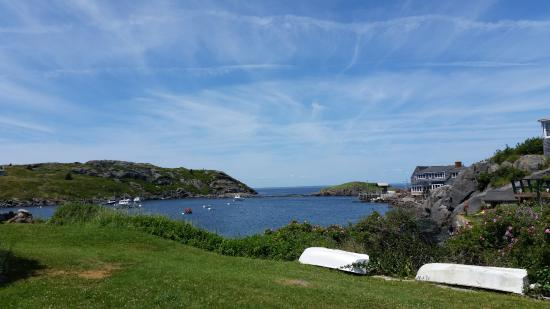 Monhegan Island, ME: View of Monhegan from the lighthouse