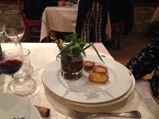 Gaiole in Chianti, Italie : Steak in a Tumbler! Very tasty.. more please !