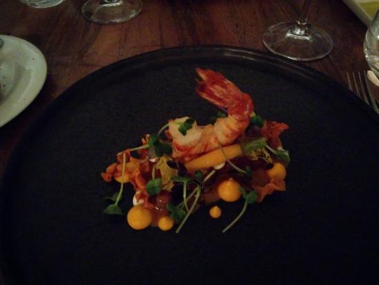 Restaurant Johannes: Buikspek,gamba,wortel,atjar ( chef's signature)