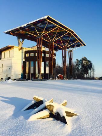 Grythyttan, Sverige: Måltidens Hus vinter