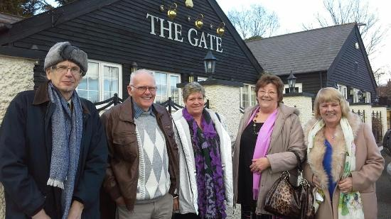 The Gate Inn: We are with a Facebook Group called Goldies Wales Over 50's, and lunch out weekly at various ven