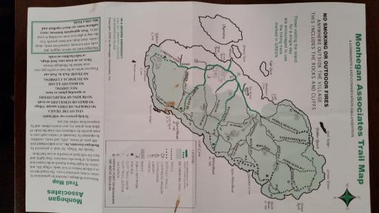 Monhegan Island, ME: Monhegan Map