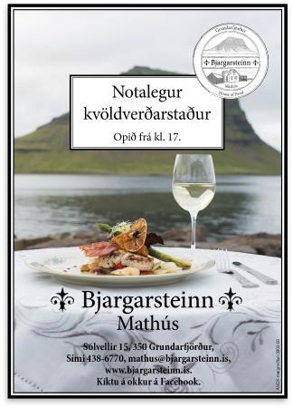 Grundarfjorour, Исландия: Bjargarsteinn House of food
