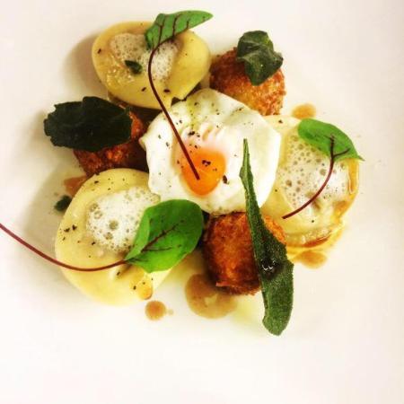 Fowey, UK: Duck tortellini