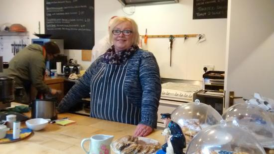 Cardigan, UK: Service with a smile