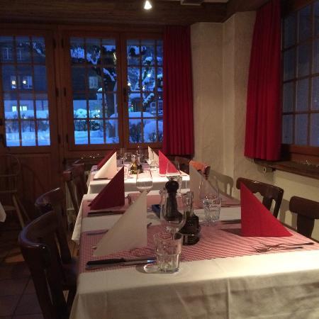 Lenk-Simmental, Suiza: Salle à mangé