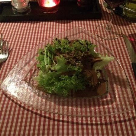 Lenk im Simmental, Schweiz: Petite salade vinaigre balsamique