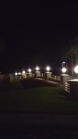Sheraton PGA Vacation Resort Villas: View of the bridge at night from our balcony