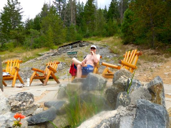 Strawberry Park Hot Springs: chilling in sun