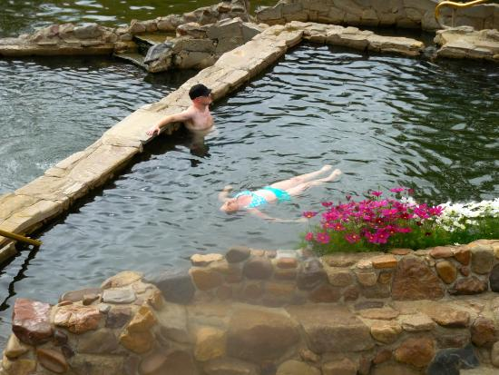 Strawberry Park Hot Springs: floating and relaxing