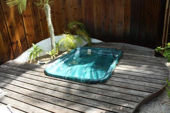 Bora Bora Pearl Beach Resort & Spa: Jacuzzi privata in giardino