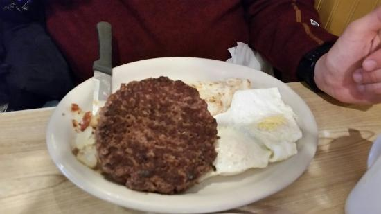 "Layton, UT: The ""short"" stack pancakes. The hamburger steak. The biscuits and gravy and their huge scones!"