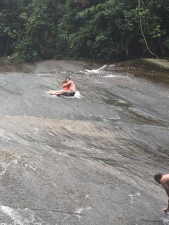 Cachoeira Tobogã: Pedra