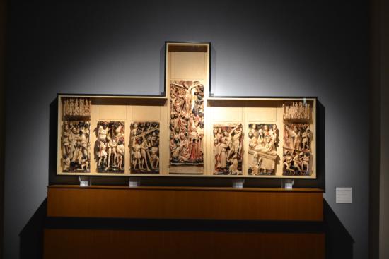 Venafro, Italia: Polittico in alabastro di scuola inglese (XV secolo)