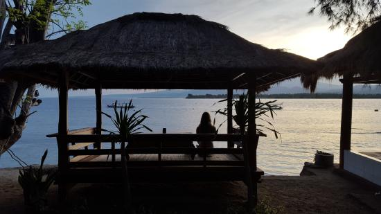 Gili Air, Indonesien: Part of The Waterfront Restaurant