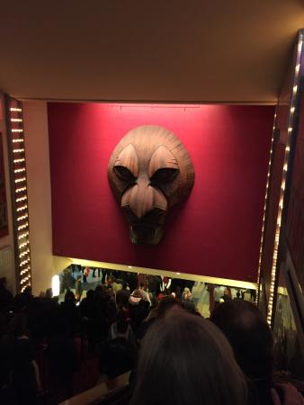 in the theatre on way doen the esclators picture of the lion king rh tripadvisor co uk