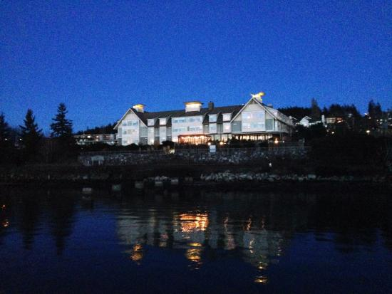 The Chrysalis Inn & Spa: View from boardwalk in the back
