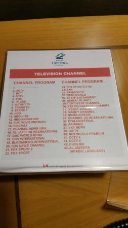 Hotel Ciputra Jakarta: TV channels available