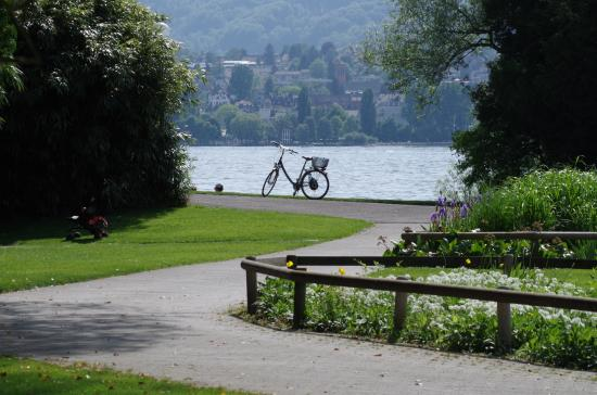 Thun, Sveits: Zurich Lake from Seefeld Park