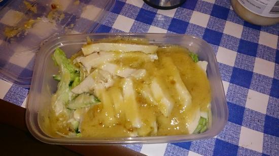 Camborne, UK : Disgusting tasteless bang bang chicken