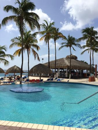 pictures from our deck and the main pool sunscape curacao resort rh tripadvisor com