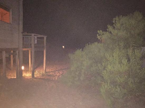 Punta Pelucas: Vista de noche desde la rubia