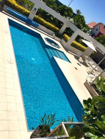 New Plymouth, Nowa Zelandia: Excellent warm salt water pool