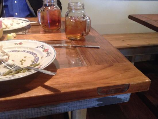 Lenoir City, TN: So all my food was gone and I was looking around and realized that the table top was an old door