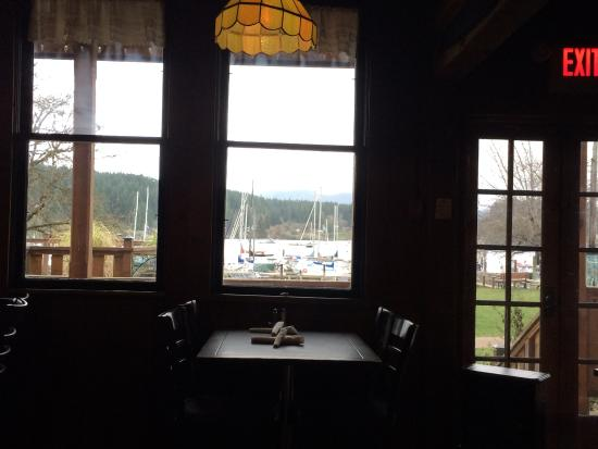 Quadra Island, Canada: The view from our table by the fire