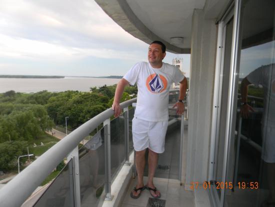 Ramallo, Argentinien: En el Balcón de la Habitación.