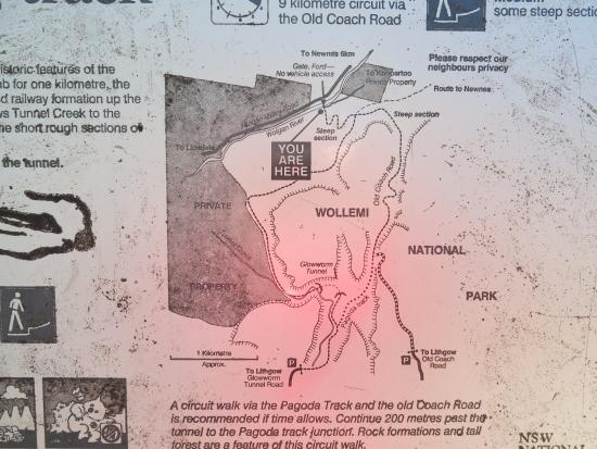 Lithgow, Australien: The all important map