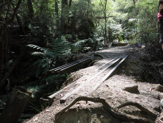 Lithgow, Australien: Old railway tracks
