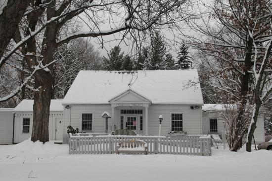 Woodstock Library in the Winter.