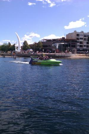 Kelowna Jet Boat Adventures: Leaving Downtown Kelowna for our tour