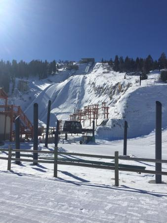 Park City, UT: View of the K90 and K120m ski jumps