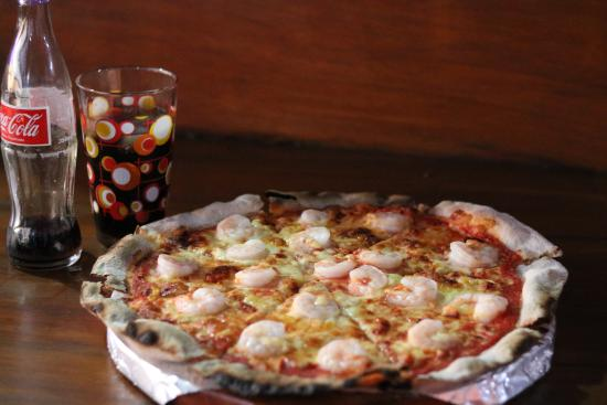 Pizza Tree : pizza de camarones