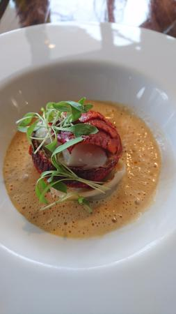 McLaren Vale, Australia: Lobster medallion with blue swimmer crab & prawn ravioli & lobster bisque
