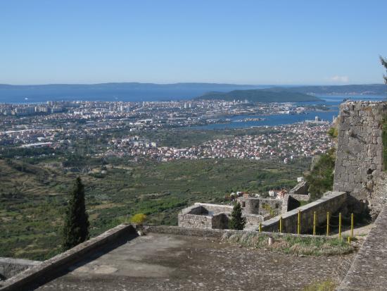 クリス, クロアチア, 要塞よりスプリトの景色