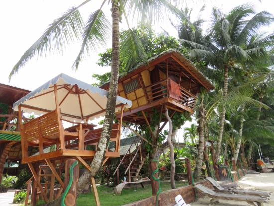 Port Barton, Filippinene: Tree house!