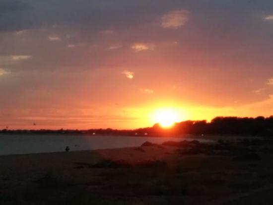 Gosport, UK: Stokes Bay at sunset