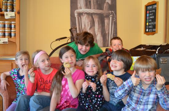 """Summerland, كندا: The Summerland Children's Choir staged a """"Flash Mob"""", last spring, and celebrated with cookies"""