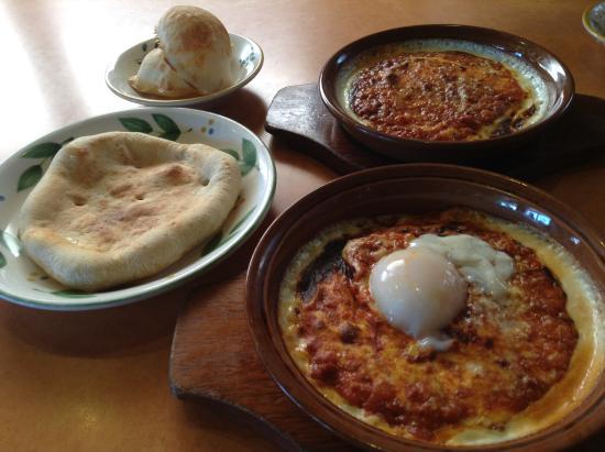 Kariya, ญี่ปุ่น: 半熟卵ミラノ風ドリア、フォッカチオ