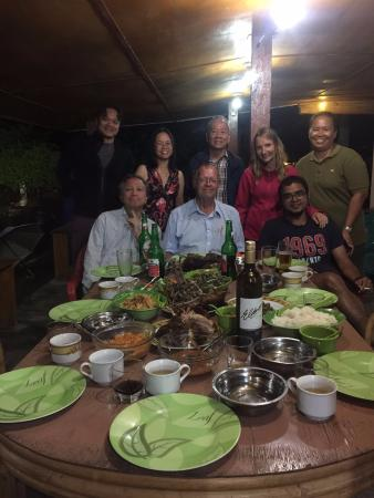 Horas Family Home: traditional batak chef on the extreme right Mian