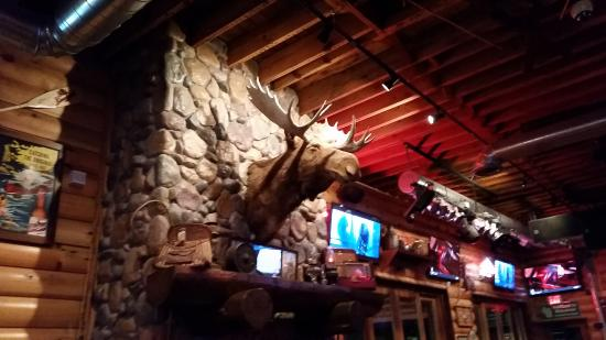 Hudson, WI: Moose above the fireplace