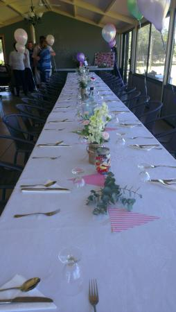 Deniliquin, Australië: Our Decorated table