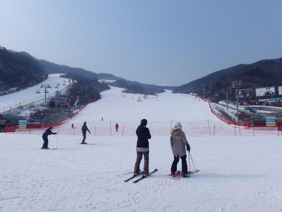 南韓廣州市: 好多滑雪高手,也好想上去