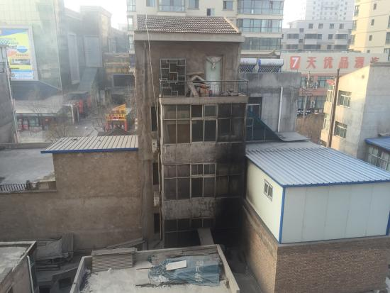 Lintao County, China: View from my hotel window. To be fair, Lintao isn't very picturesque whatever your view. The win